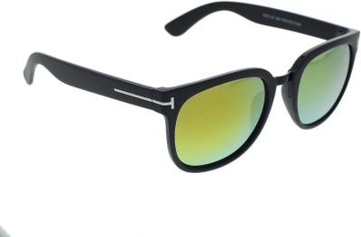 Vast TF_WAYFARER_BLACK_GOLD Over-sized Sunglasses(Golden)