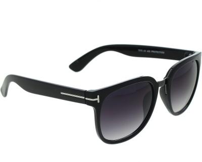 Vast TF_WAYFARER_BLACK_GUN Over-sized Sunglasses(Grey)