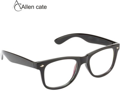 Allen Cate Black Anti Reflction Wayfarer Sunglasses