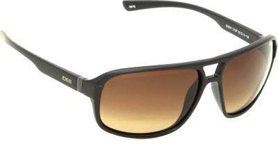IDEE IDEE-S1914-C12P Wrap-around Sunglasses(Brown)