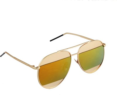 6by6 SG1663 Aviator Sunglasses(Yellow)