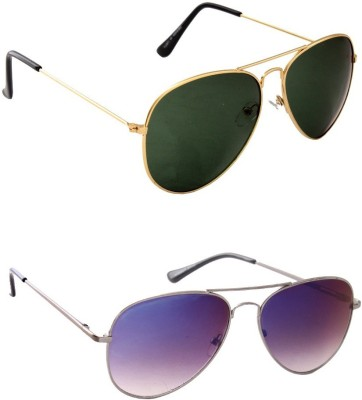Simran Combo Of Aviator Sunglasses Aviator Sunglasses