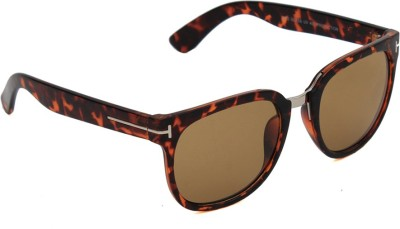6by6 SG1153 Wayfarer Sunglasses(Brown)