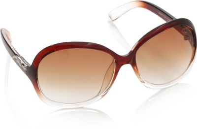 Gio Collection SH13035-1319 brown P12307 Over-sized Sunglasses(Brown) at flipkart