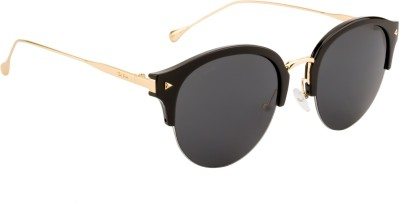 Ted Smith TS-7979/S_C7-BLK Round Sunglasses(Grey)