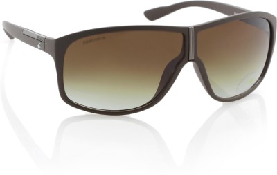 Fastrack P260BR1 Wayfarer Sunglasses(Brown)