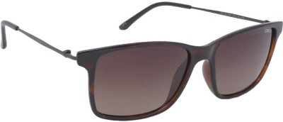 IDEE S2109-C2P Rectangular Sunglasses(Brown)