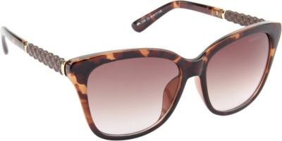 Farenheit 1238-C3 Cat-eye Sunglasses(Brown)