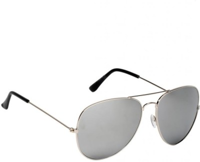 New Zovial Trendy Silver Mercury Aviator Sunglasses