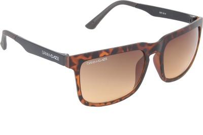 Danny Daze D-3208-C1 Rectangular Sunglasses(Brown)