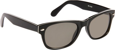 Cristiano Ronnie Black with white strip Wayfarer Sunglasses
