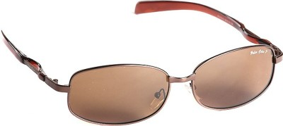 T1 Vision Technofirst Polarized 2 Brown Medium Rectangular Sunglasses
