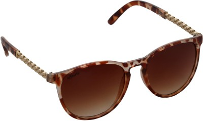 Affaires A-425 Brown Oval Sunglasses