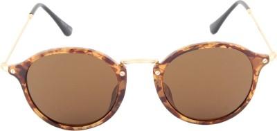 Farenheit 1216-C1 Round Sunglasses(Brown)