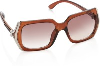 Gio Collection SH13040-1333 brown P12194 Rectangular Sunglasses(Brown)