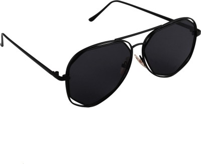 6by6 SG1668 Aviator Sunglasses(Black)