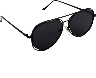 6by6 SG1668 Aviator Sunglasses(Black)