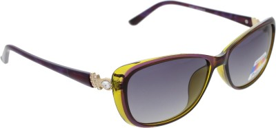 Vast WOMENS _POLO_705_C6_PURPLE_GREEN Cat-eye Sunglasses(Grey)