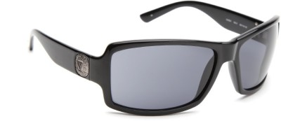 Guess GUESS WOMEN 6561 BLK-3 Over-sized Sunglasses(Grey)