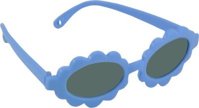 Angel Glitter Ocean Eye Sunflower style Kids Fashion Oval Sunglasses