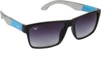 NOD NOD062K15IN0727 Rectangular Sunglasses(Black)