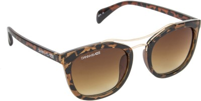 Danny Daze D-2128-C2 Round Sunglasses(Brown)