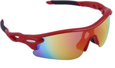 Omtex Flash Red Sports Sunglasses