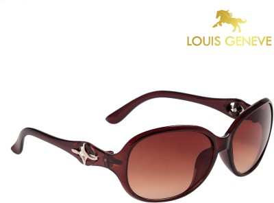 Louis Geneve Classic Series Brown Frame with Brown Lens Oval Sunglasses