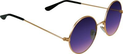 Garmor (8903522114939 /Purple Color Gold Frame) Round Sunglasses