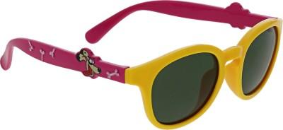 Vast KIDS_SMART_ANIMAL_CARTOON_YELLOW_PINK_POLARIZED Round Sunglasses(For Boys)