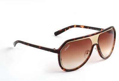 Amaze AM0953 Oval Sunglasses(Brown)