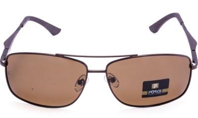 Force Polarized Rectangular Sunglasses