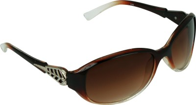 Garmor (8903522114663 /Brown Color Brown Frame) Oval Sunglasses