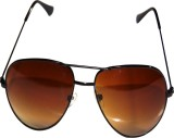 Trendz Fashion V21Golden Aviator Sunglas...