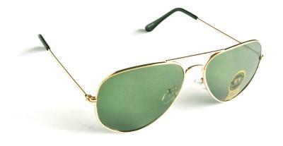 Joovaa Golden Green Aviator Sunglasses