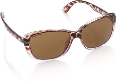 Fastrack P225BR2F Rectangular Sunglasses(Brown)