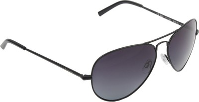 Polaroid PLD-1017SL-003-WJ-60 Aviator Sunglasses(Black)