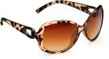 Yepme 75560 Over-sized Sunglasses (Brown...