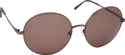 Mango Pickles RO-5012-Brown-Demi Round Sunglasses(Brown)