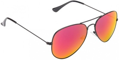 VIJEX MIRRORED RED Aviator Sunglasses