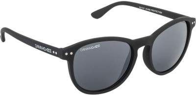 Danny Daze D-1712-C2 Round Sunglasses(Black)