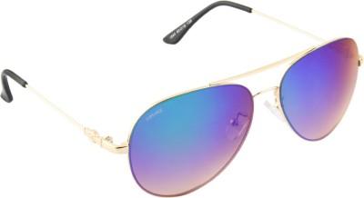 Voyage 1840MG1075 Aviator Sunglasses(Blue)