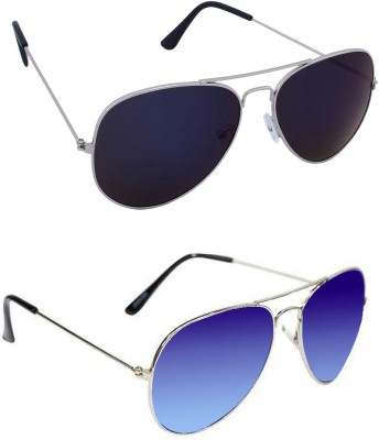 Epic Ink com2173 Aviator Sunglasses(Violet, Blue)