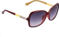 Vast VS_CHARMING_CHEX_WONDERFUL_WINE__RED Over-sized Sunglasses(Grey)