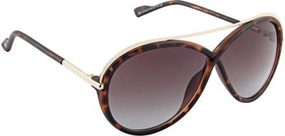 Farenheit 1319 Oval Sunglasses(Brown)