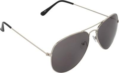 NB Silver Black Good Look Aviator Sunglasses