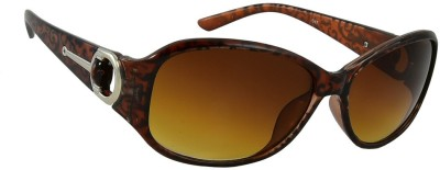 Red Knot 47-BRN Over-sized Sunglasses(Brown)