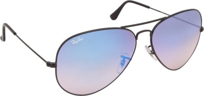 Ray-Ban 0RB3025I 62 002/4O Aviator Sunglasses(Blue)