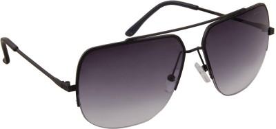 PANACHE FELICITY_SQUARE_BLACK FRAME_GREY GRADIENT LENS Rectangular Sunglasses