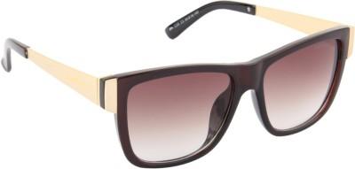 Farenheit 1235-C3 Wayfarer Sunglasses(Brown)